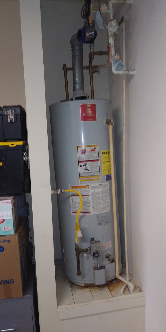 Replacing gas water heater