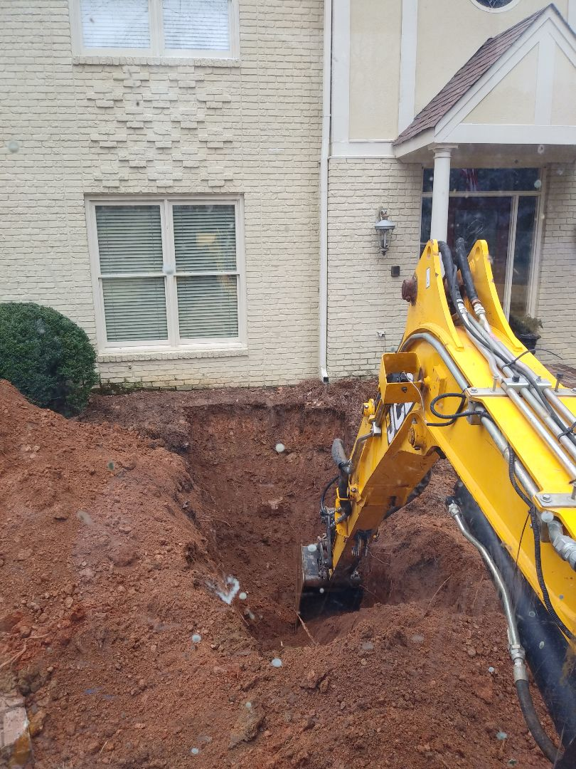 Replacing sewer line