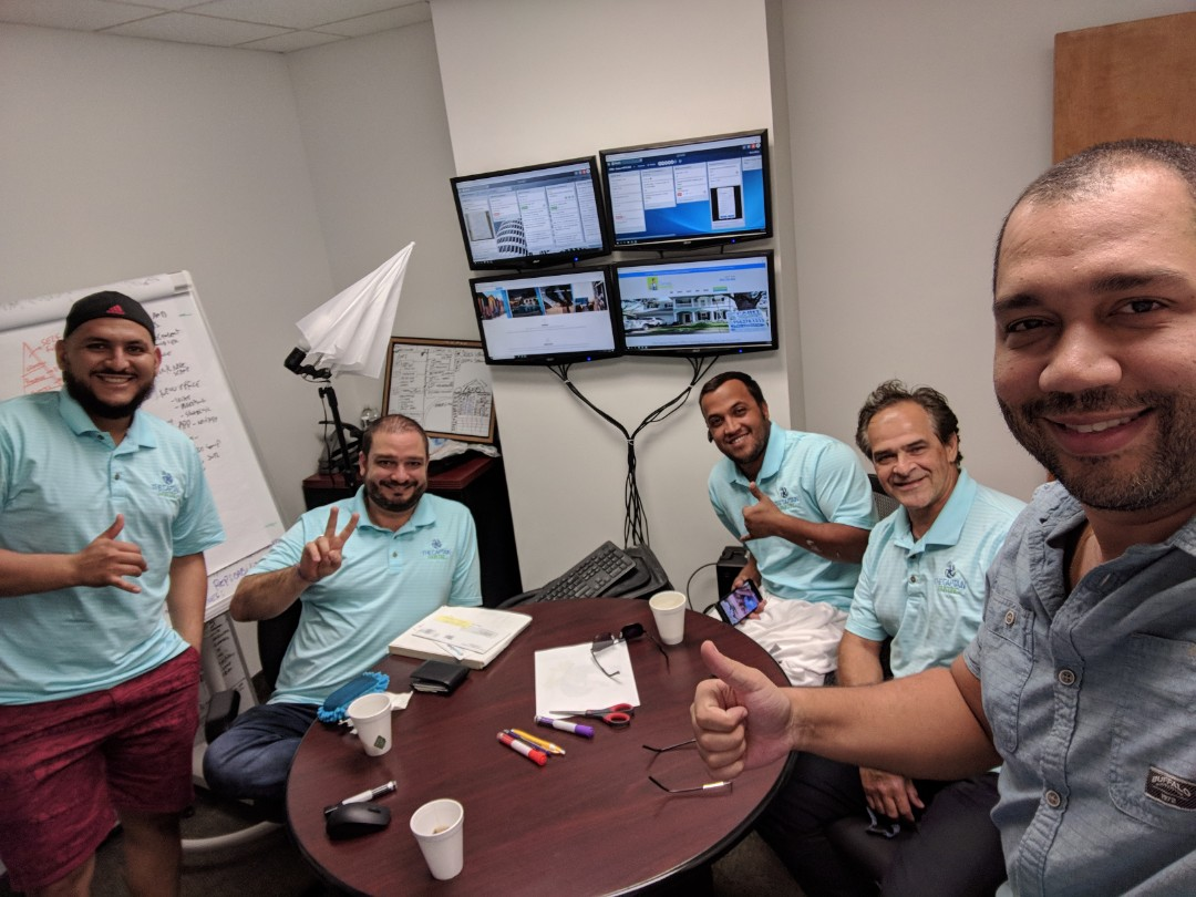Pompano Beach, FL - The Captain Painter chief and his captains at Fort Lauderdale Headquarters deciding the new challenges of the company for residential and commercial painting jobs!! The Best Painter is here!