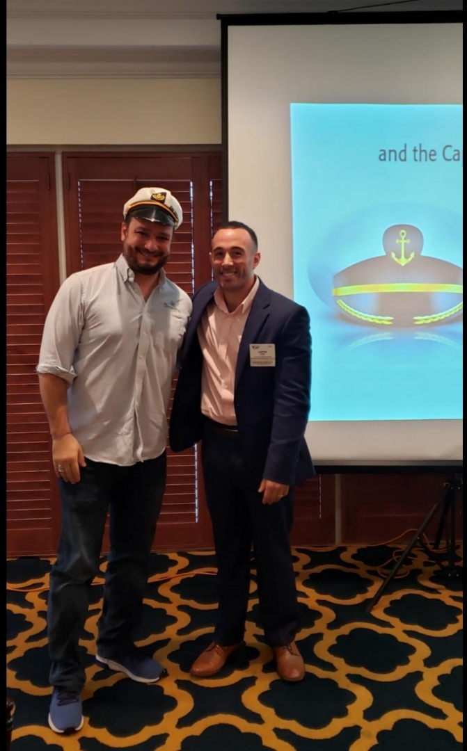 Fort Lauderdale, FL - The Head Captain Painter, Augusto Alagoa, Just get the Captain's Hat of BNI Premier for the Best Presentation!! For Industrial Painting, Commercial Painting and Residential Services The Captain Painter and his team will take care of You!!