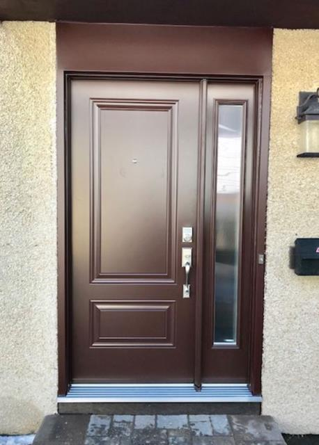 Kanata, ON - Completed an installation in Glen Cairn of a new Portatec front entry door. Customer increased their curb appeal and energy efficiency. Call Stittsville Windows and Doors for your next upgrade - 613-271-5434