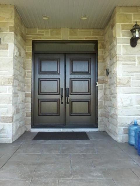 Kanata, ON - We installed a beautiful double wood door this week for a customer in Kanata, such a classically elegant look.