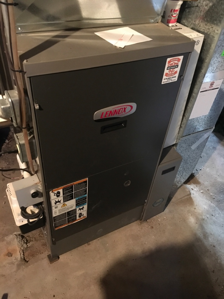 Rockford, MI - Draft inducer replaced on furnace.