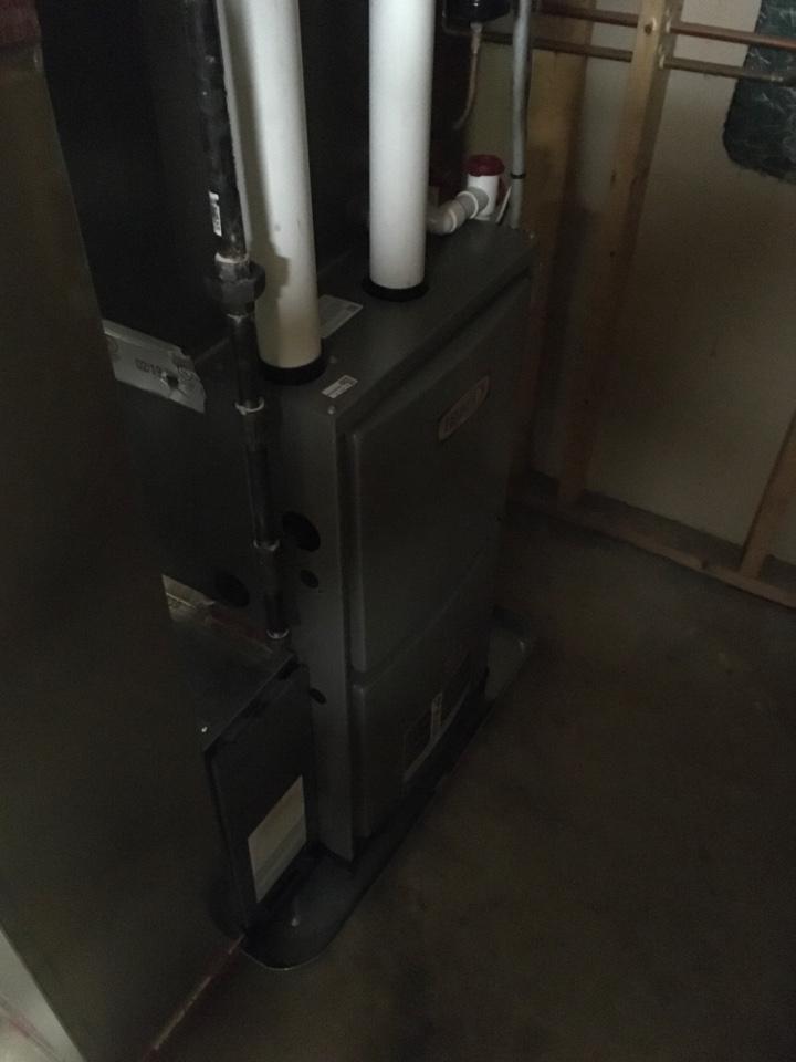 Comstock Park, MI - Annual furnace maintenance.