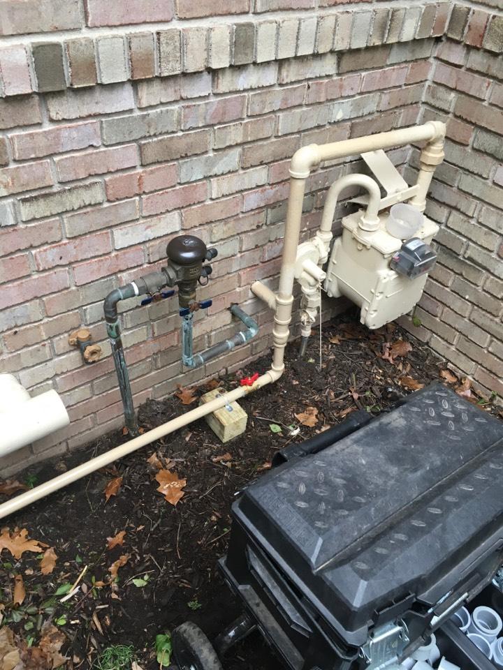 Ada, MI - Whole home generator gas pipe installation.