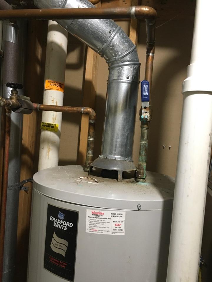 Grand Rapids, MI - Water heater releasing carbon monoxide into home.