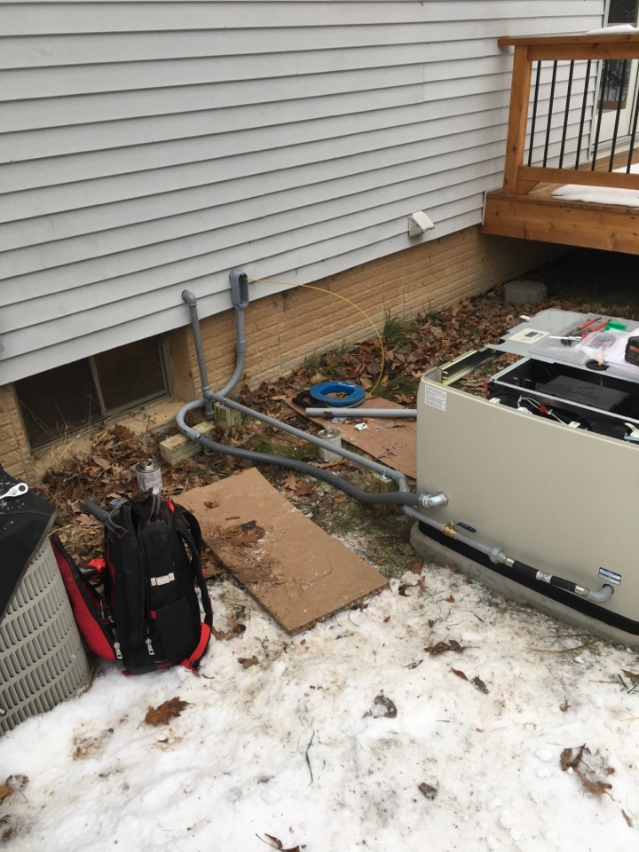 Belding, MI - Whole home generator gas pipe installed.
