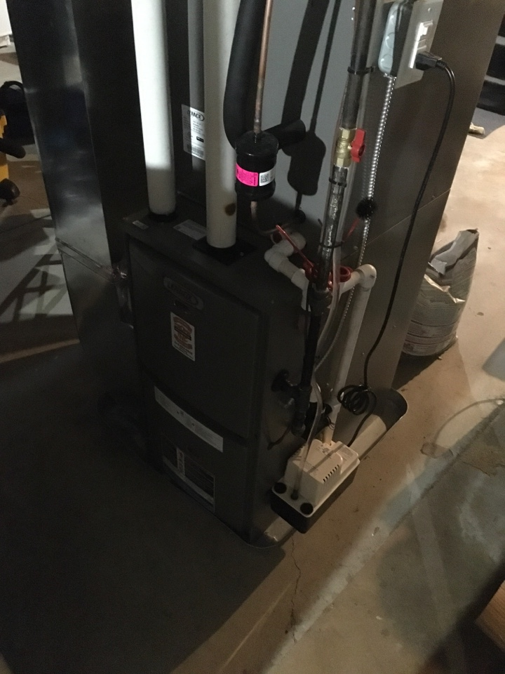 Rockford, MI - Annual furnace maintenance with new air filter.