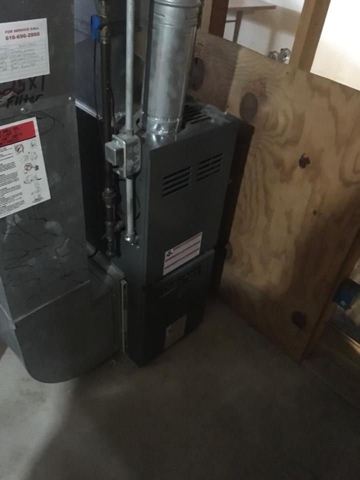 Sand Lake, MI - Draft inducer motor replaced on Amana furnace.