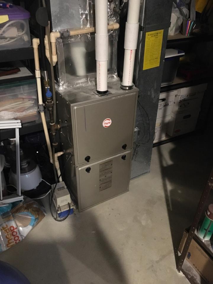 Cedar Springs, MI - Replaced dual pressure switch on Payne furnace.