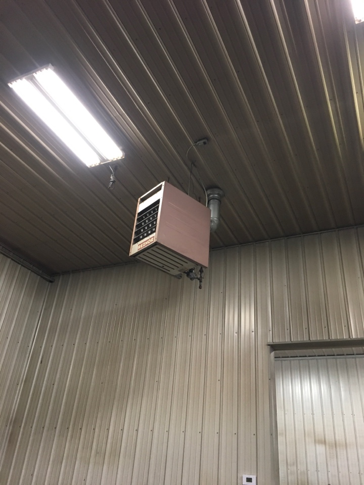 Cedar Springs, MI - Unit heater thermocouple and thermostat replaced on Reznor.