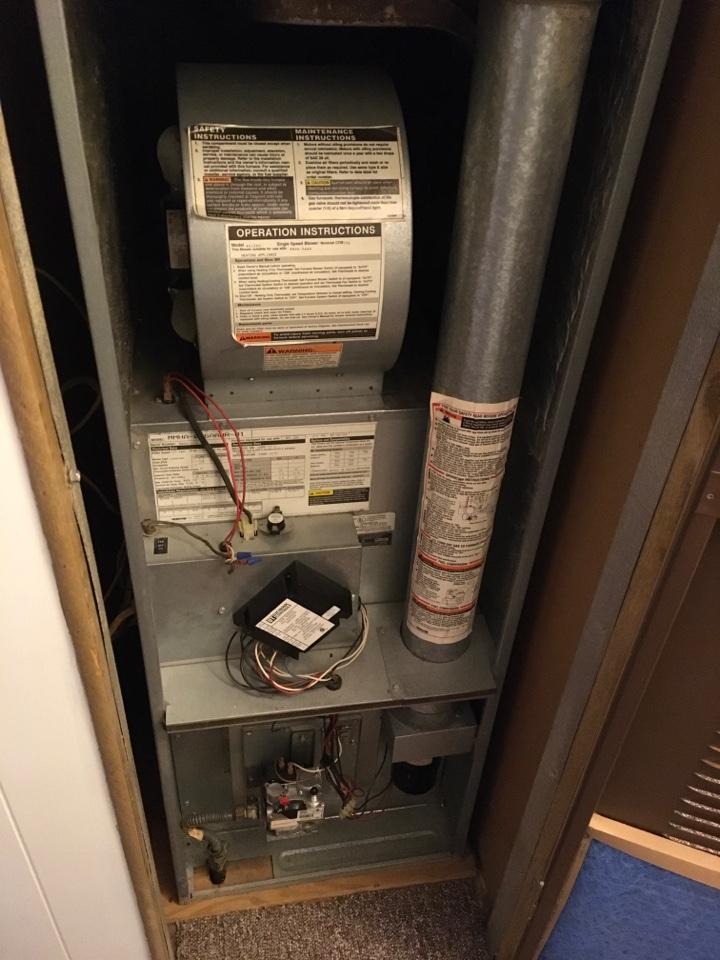 Big Rapids, MI - Bad ignitor on mobile home Miller furnace.