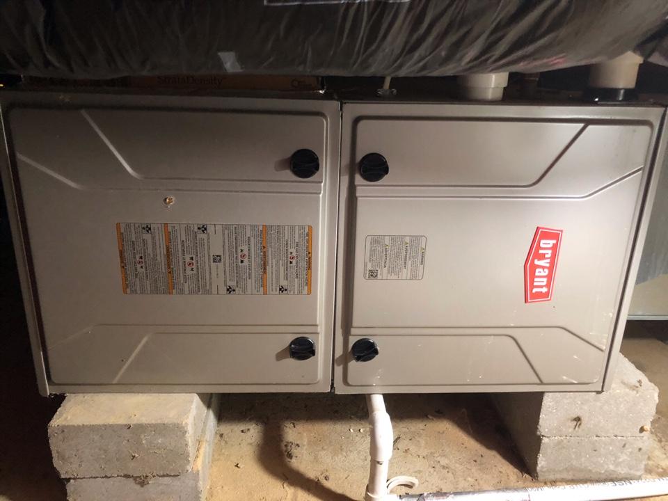 Newaygo, MI - Dual pressure switch replaced in Bryant furnace.