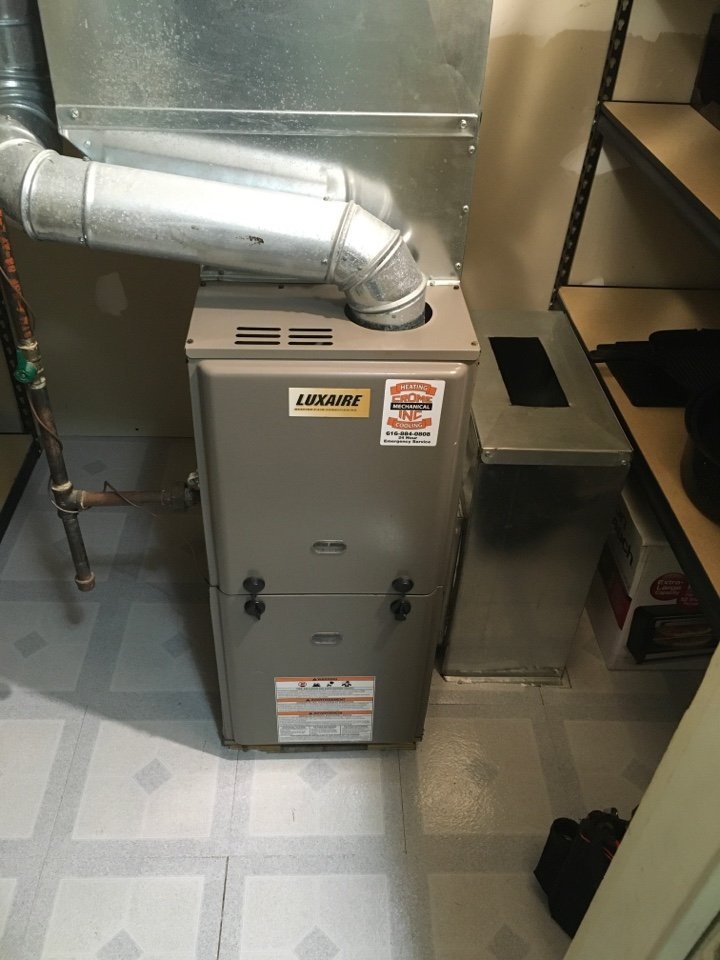 Newaygo, MI - Furnace not keeping the house warm enough.  Luxaire