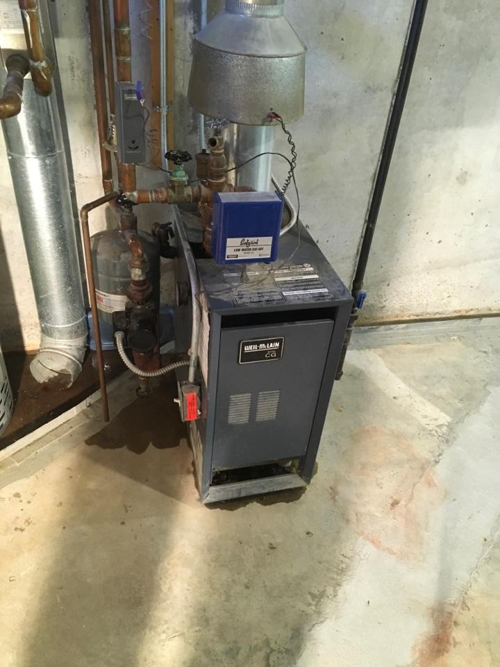 Newaygo, MI - Pressure relief valve replaced on boiler.