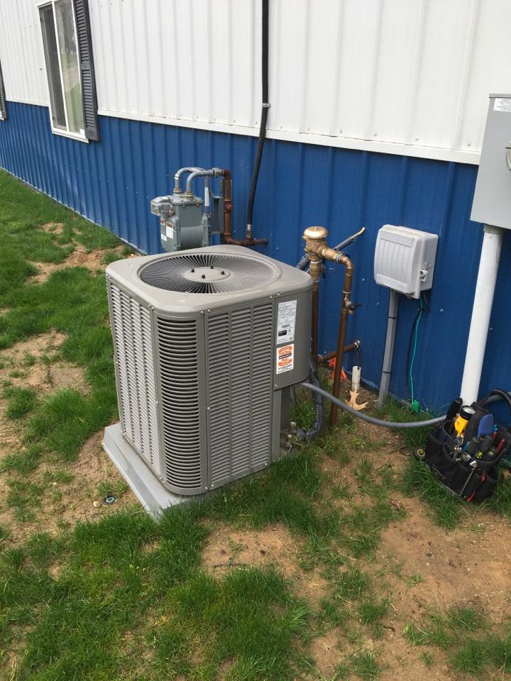 Cedar Springs, MI - Annual air conditioning maintenance.