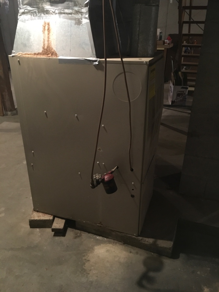 Coopersville, MI - Fuel oil furnace replaced with new propane fired Lennox furnace and central air conditioning.