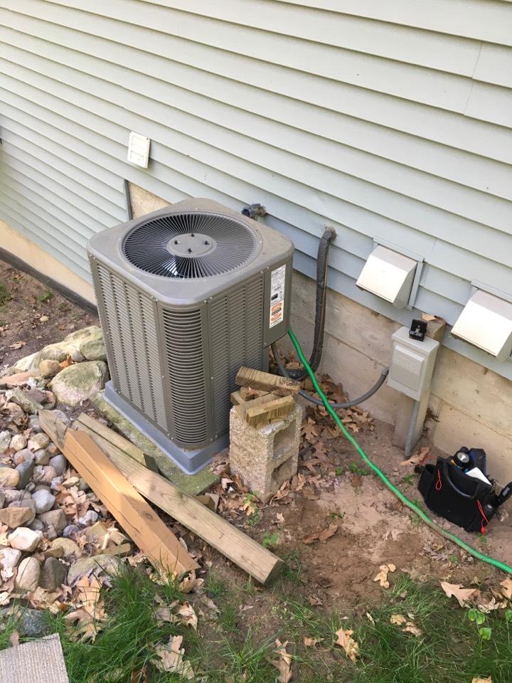 Ada, MI - Annual air conditioning maintenance.