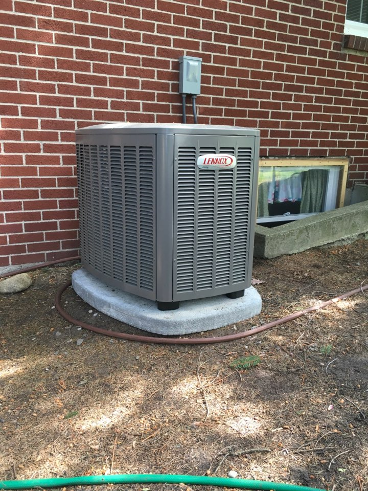 Wyoming, MI - Start up on new Lennox central air conditioning.
