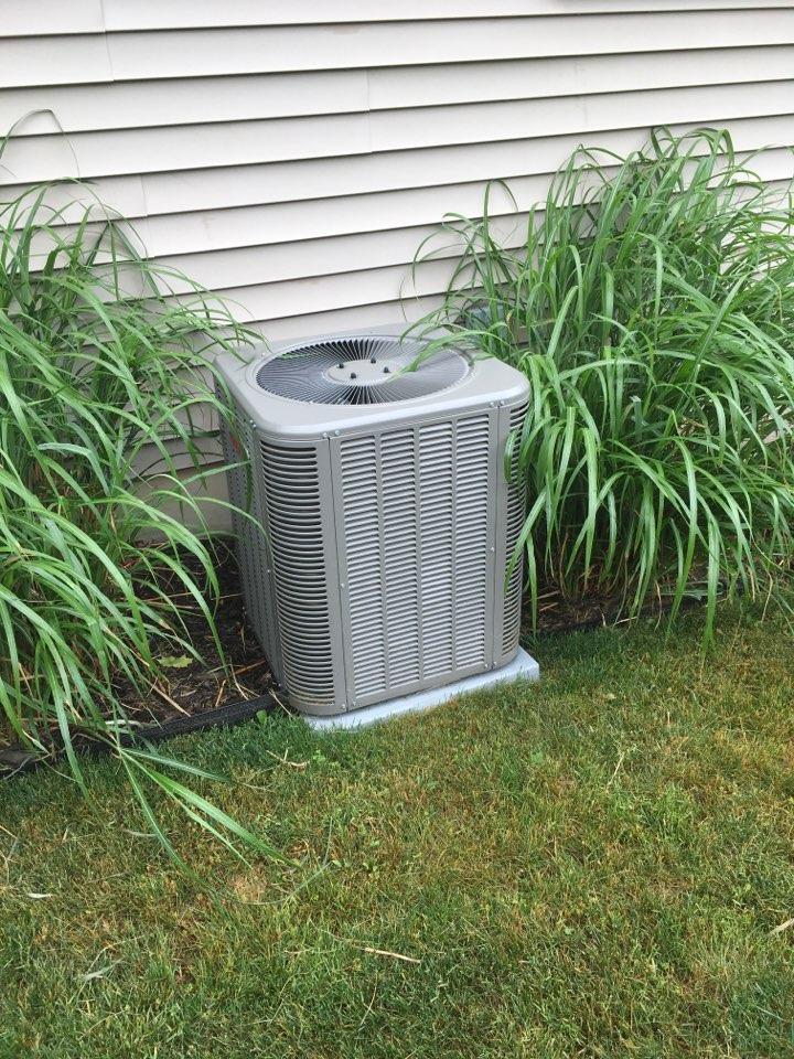 Caledonia, MI - Annual air conditioning maintenance.