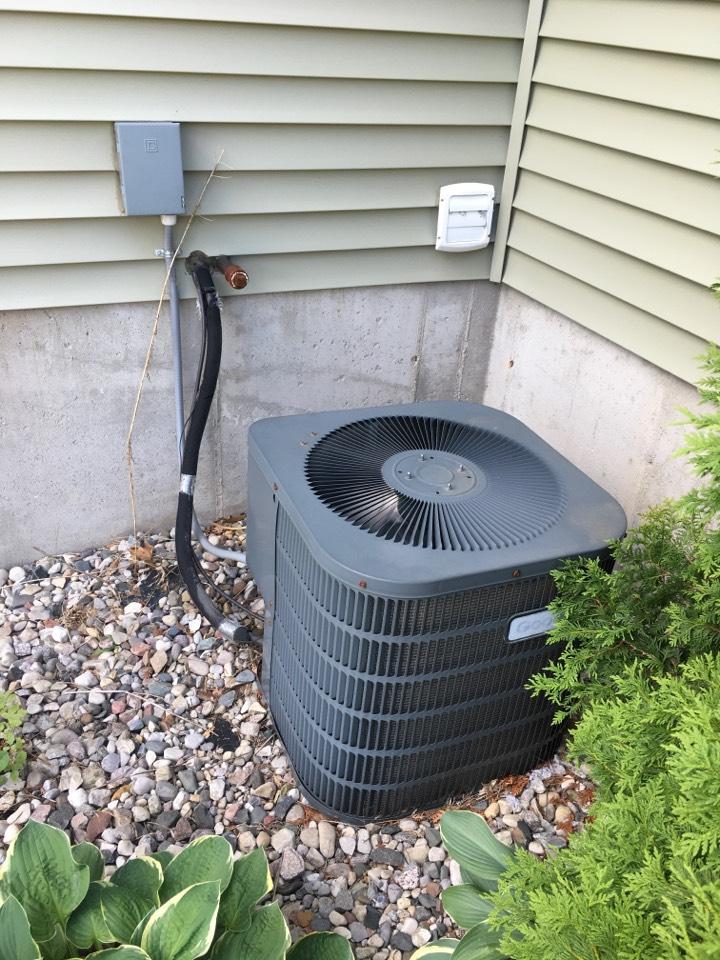 Cedar Springs, MI - Capacitor replaced on Goodman condenser.