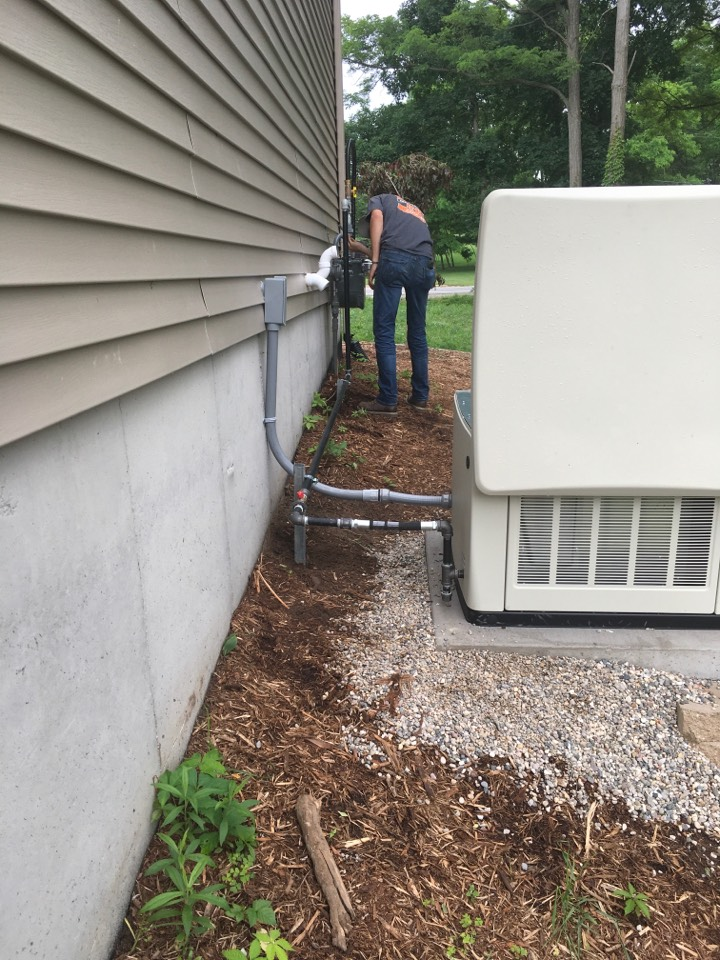 Sparta, MI - Gas piping from natural gas meter to new Cummins whole house generator.