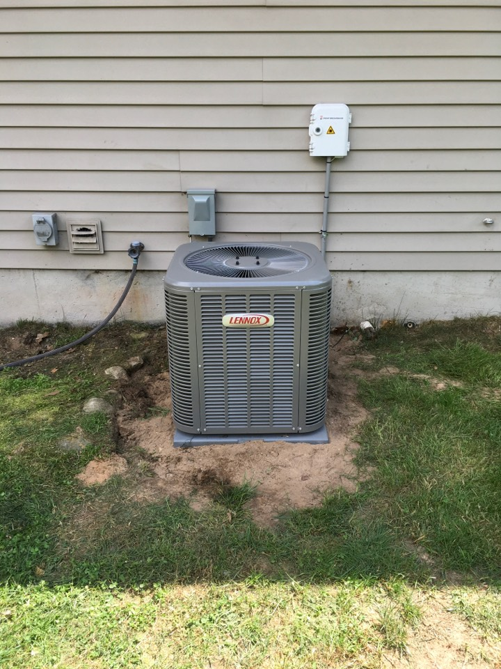 Lakeview, MI - New air central air conditioning and power vent water heater installed.