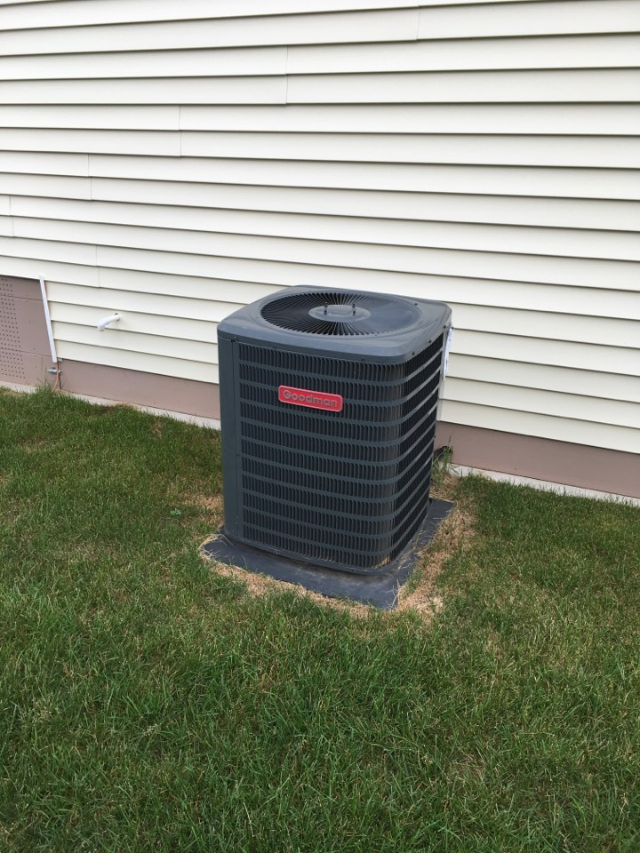 Rockford, MI - Annual maintenance and cleared blocked condensation drain.