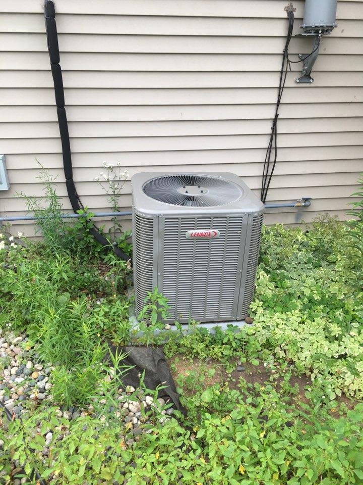 Cedar Springs, MI - Annual maintenance on Lennox central air conditioning and mini split system.