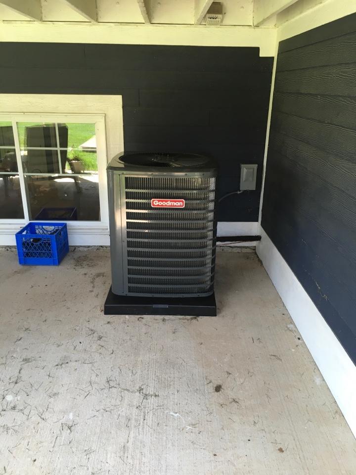 Coopersville, MI - New Goodman air conditioning installed.