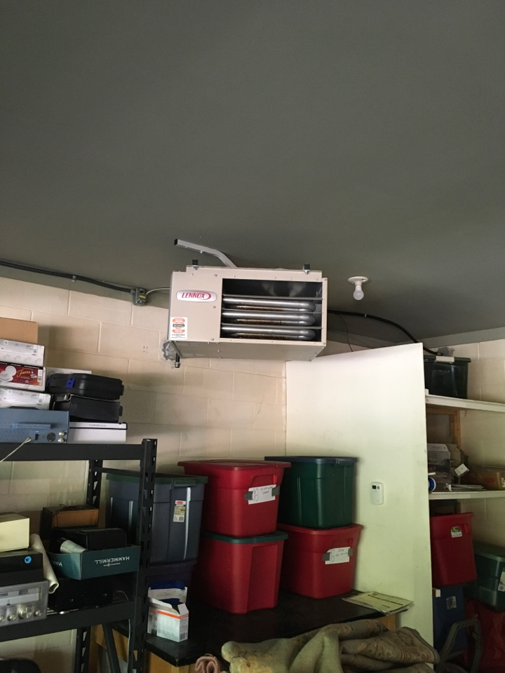 Stanwood, MI - New Lennox unit heater installed and start up complete.