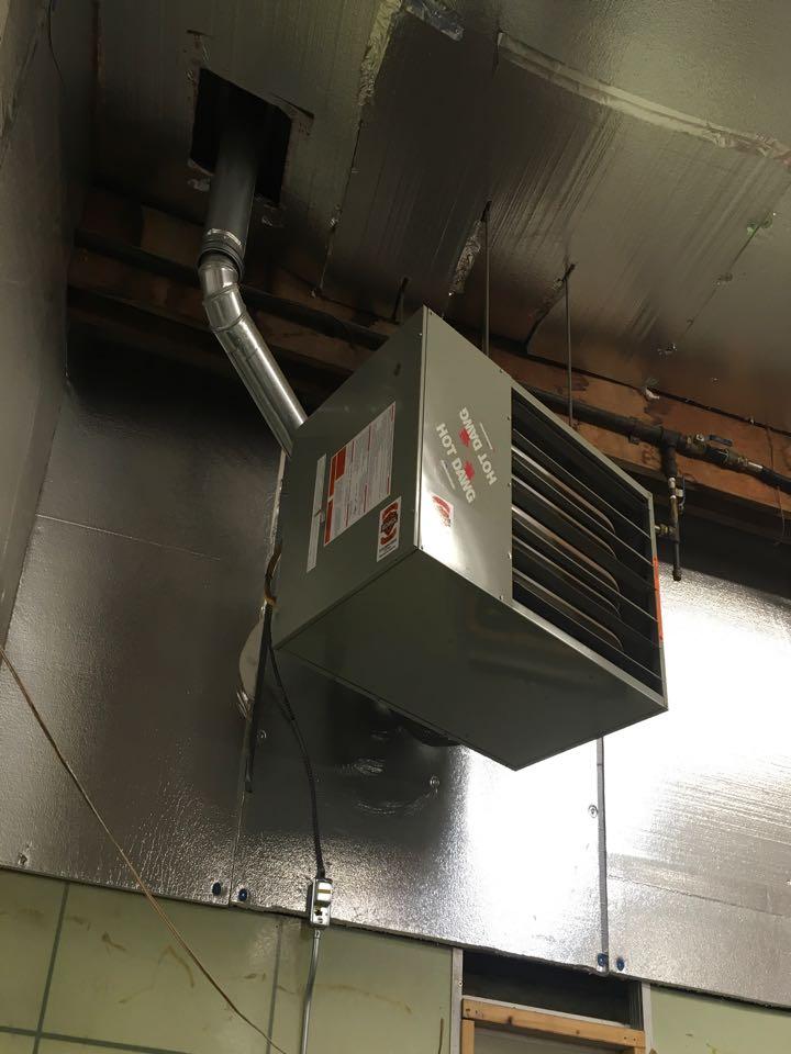 Howard City, MI - Hanging unit heater in pole barn not working.