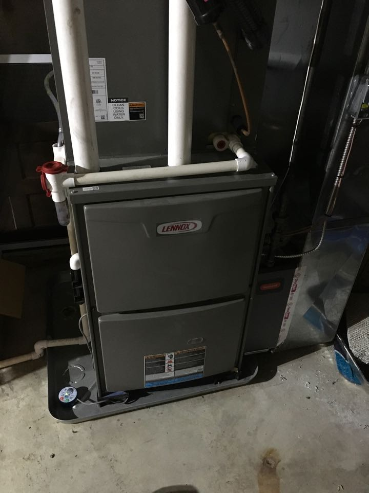 Cedar Springs, MI - Annual furnace, humidifier, and air conditioning maintenance check up.