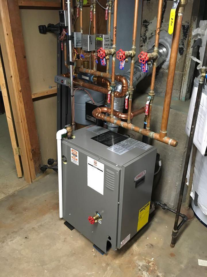 Rockford, MI - Annual heating maintenance check up on Lennox boiler.