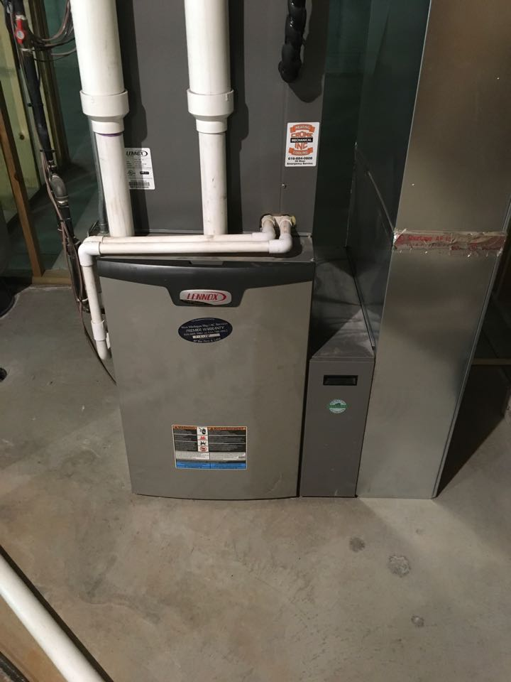 Cedar Springs, MI - Furnace inspection on new home purchase.