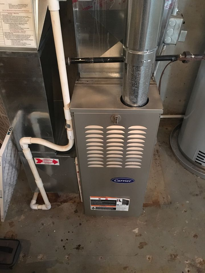 Annual carrier furnace heating maintenance check up.