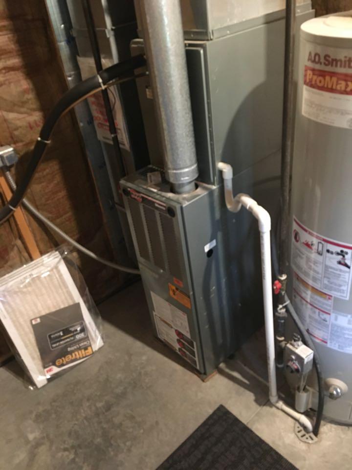 Cedar Springs, MI - Annual furnace maintenance check up.