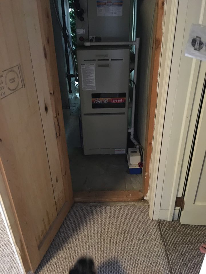 Grand Rapids, MI - Water leaking inside furnace.  Leak repaired.