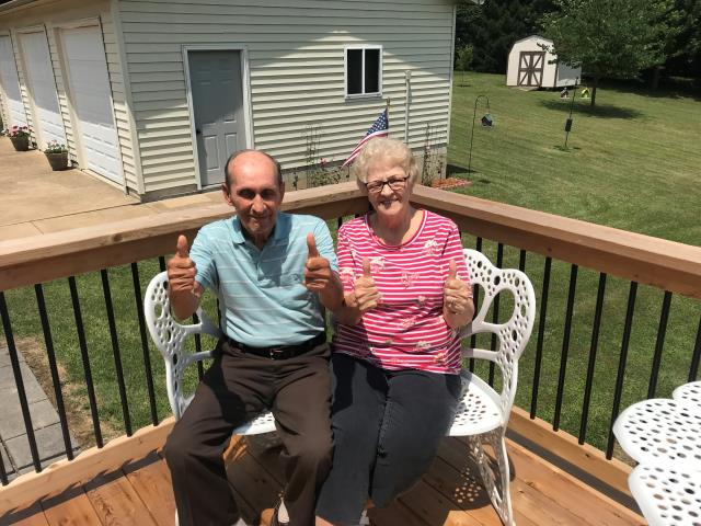 Affton, MO - I'd say 4 thumbs up indicated happiness!  Thanks Steve and Mary for choosing us!