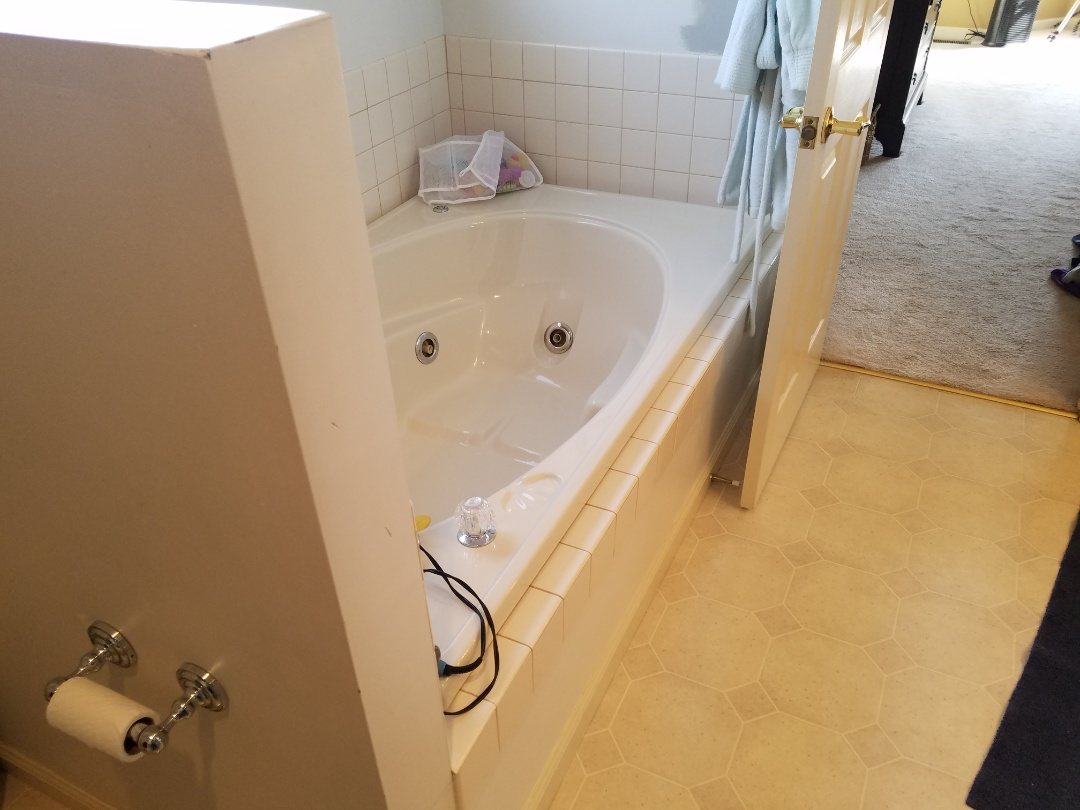 St. Louis, MO - 2 bathrooms with tile floor and granite countertops and sill, Onyx shower base and walls new fixtures