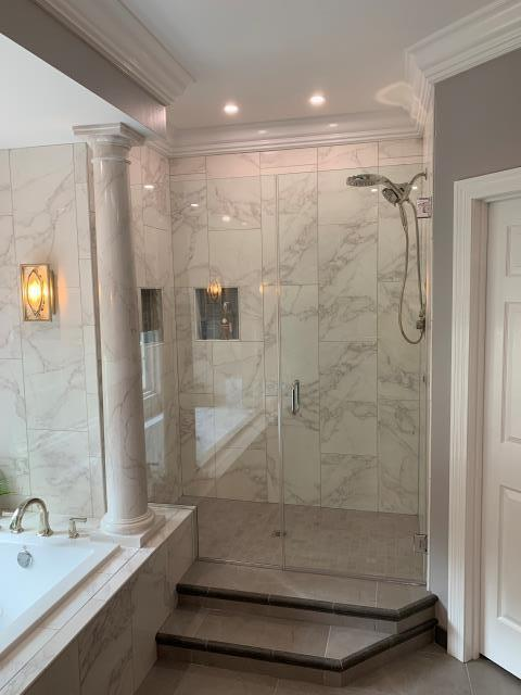 Lake Saint Louis, MO - Wowsa!  New bathroom remodel - separating the tub and shower.  Elegance!
