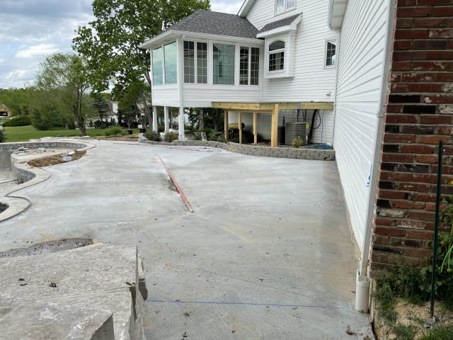 Lake Saint Louis, MO - Huge backyard oasis project.  Building an inground pool.  Hiring us to build a deck and replace one of the picture windows with an entry door.  Stay tuned for more photos as this progresses.