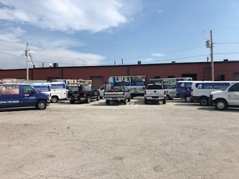 Maryland Heights, MO - Wow!  Check out all our trucks!   Actually this isn't all of them