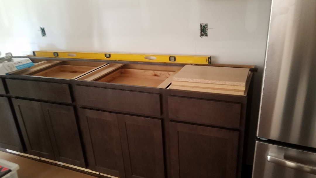 Chesterfield, MO - Basement inspecton finish work cabinets and baseboard