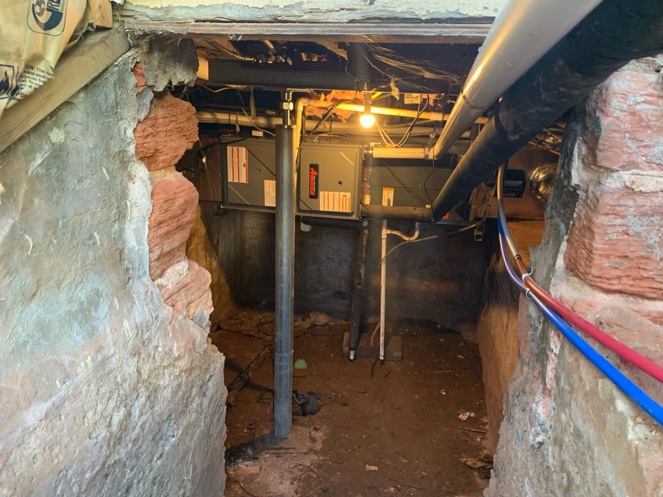 Basement, Furnace install. Fixed a mold issue with the supply and return duct, UV light X2