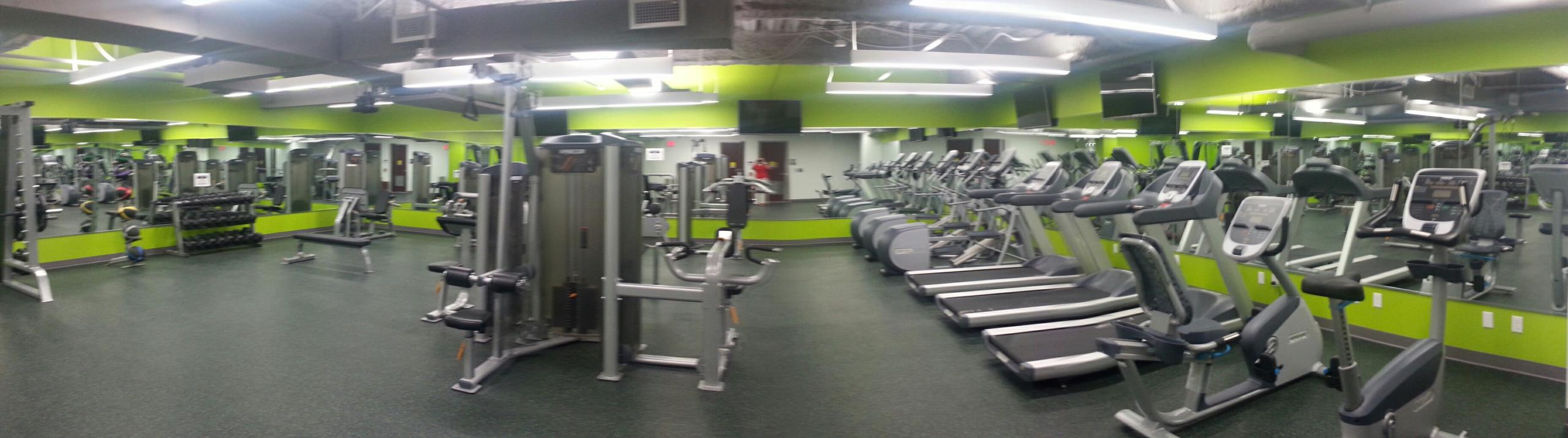 Reston, VA - Our newest addition to our Reston Office space,  a gym with showers, 3 treadmills,  3 elliptical machines,  2 bike machines,  various weights and weight machines!