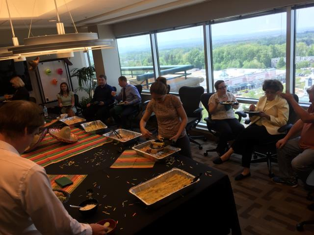 Fairfax, VA - Celebrating Cinco de Mayo with clients and staff at our Fairfax Metro Offices location!