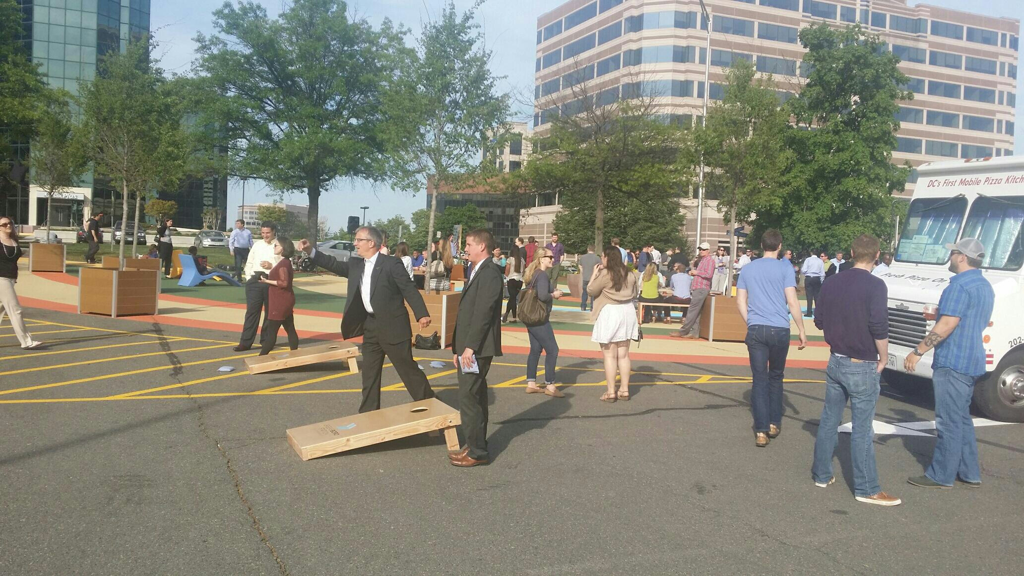 McLean, VA - Music in the park at our Greensboro Station office! Music, corn hole and kegs.. what more do you need after a day of work. #loveyourworkspace