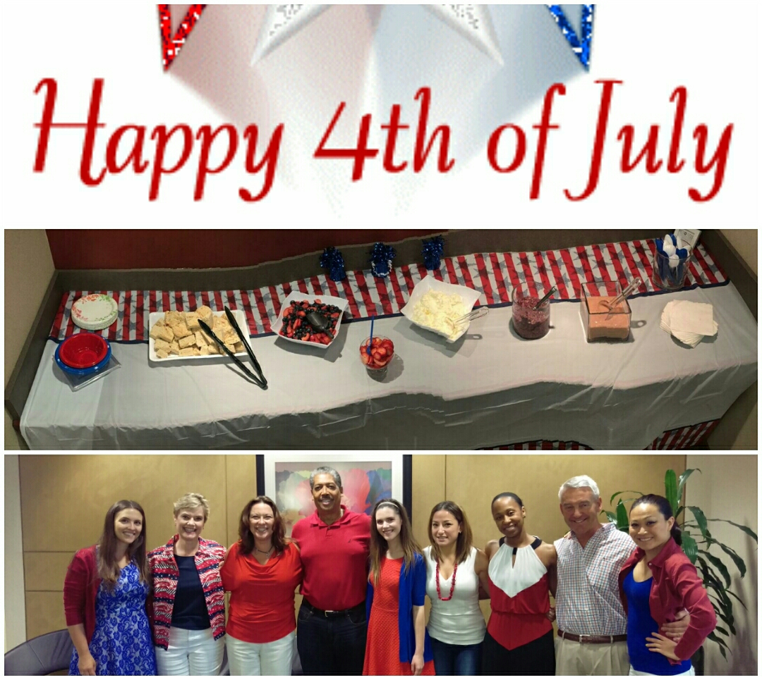 Reston, VA - In honor of America's celebration and July birthdays, clients at our Reston Office space enjoyed homemade berry shortcake.