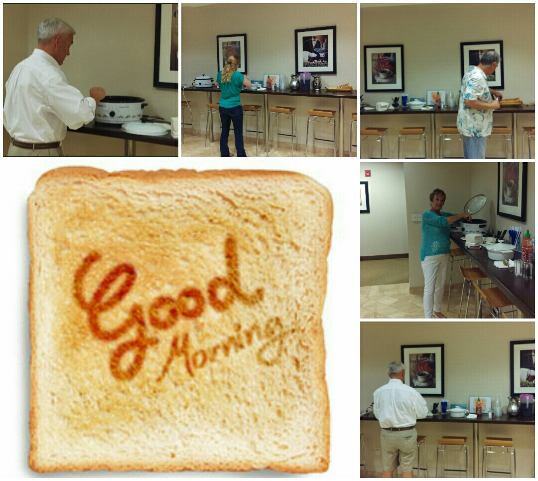 Reston, VA - Wednesday, July 15 clients at our Reston Executive Office Suites enjoyed homemade scrambled eggs, home fries and toast! Yum, yum!